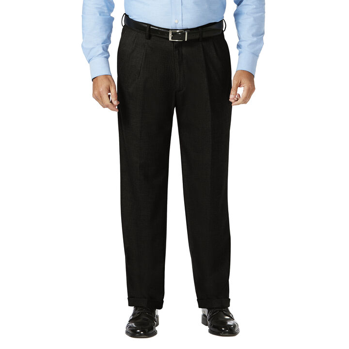 Big & Tall J.M. Haggar Dress Pant - Sharkskin, Black