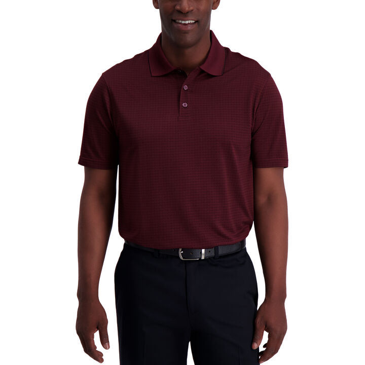 Diagonal Allover Polo, Wine Gem
