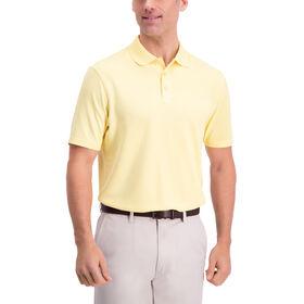 Waffle Texture Golf Polo, Lemon Meringue