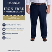 Big & Tall Iron Free Premium Khaki, Black view# 4