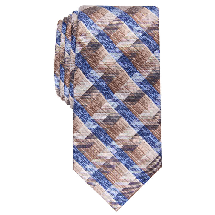 Farmer's Plaid Tie, Khaki