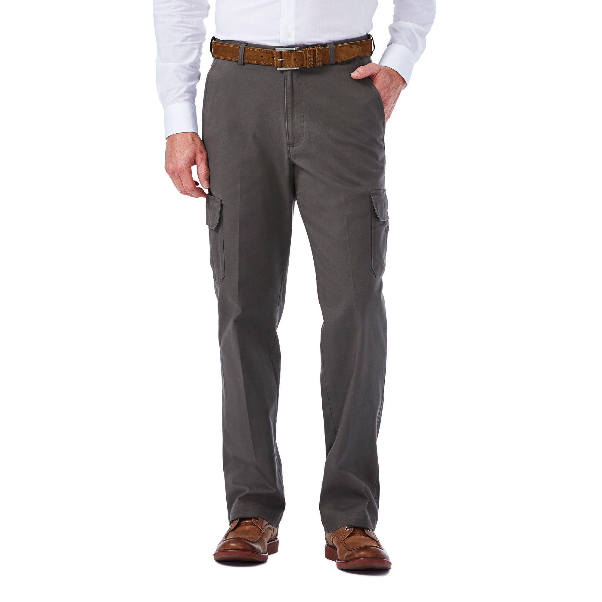 Stretch Comfort Cargo Pant Classic Fit Flat Front