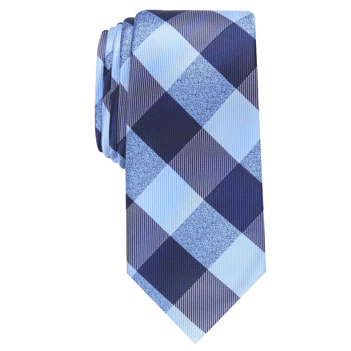 Walter Plaid Tie, Blue