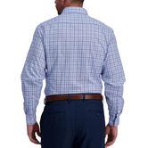 Light Blue Windowpane Premium Comfort Dress Shirt, Sky 2