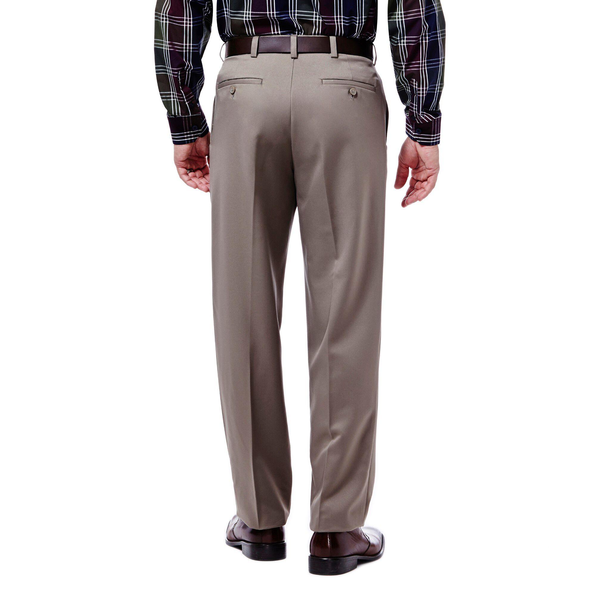 faa3d277ae B&T Cool 18 Pant   Classic Fit, Pleat, No Iron   Haggar.com