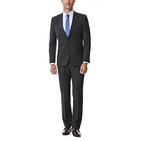 JM Haggar Slim 4 Way Stretch Suit Jacket, Charcoal Heather