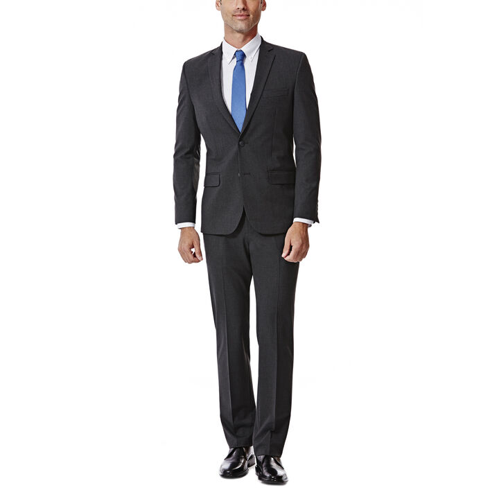 JM Haggar Slim 4 Way Stretch Suit Jacket, Charcoal Heather, hi-res