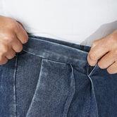 Big & Tall Stretch Denim Trouser, Medium Blue 4