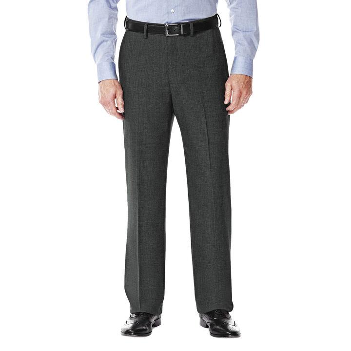 J.M. Haggar Premium Stretch Suit Pant - Flat Front, Medium Grey