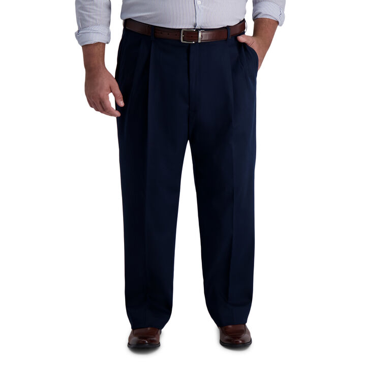 Big & Tall Iron Free Premium Khaki, Dark Navy