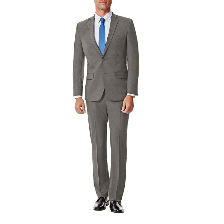 JM Haggar Slim 4 Way Stretch Suit Jacket, Grey, hi-res