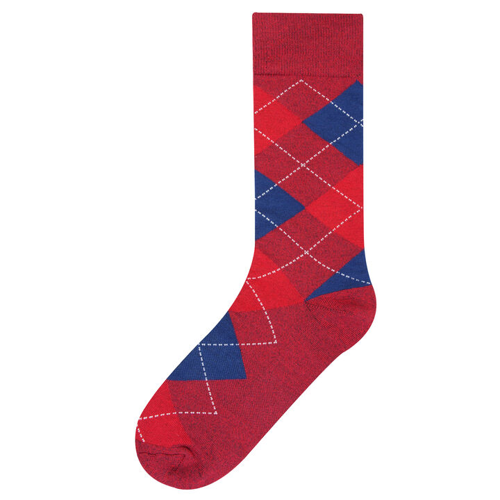 Argyle Socks, Red