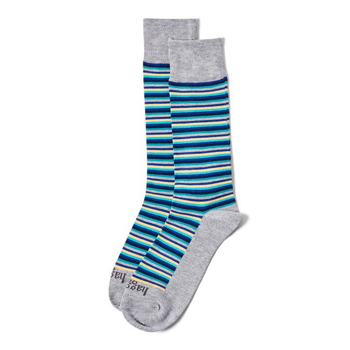 Multi Stripe Sock, Medium Grey