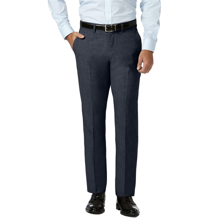 J.M. Haggar 4 Way Stretch Dress Pant,  Blue Heather