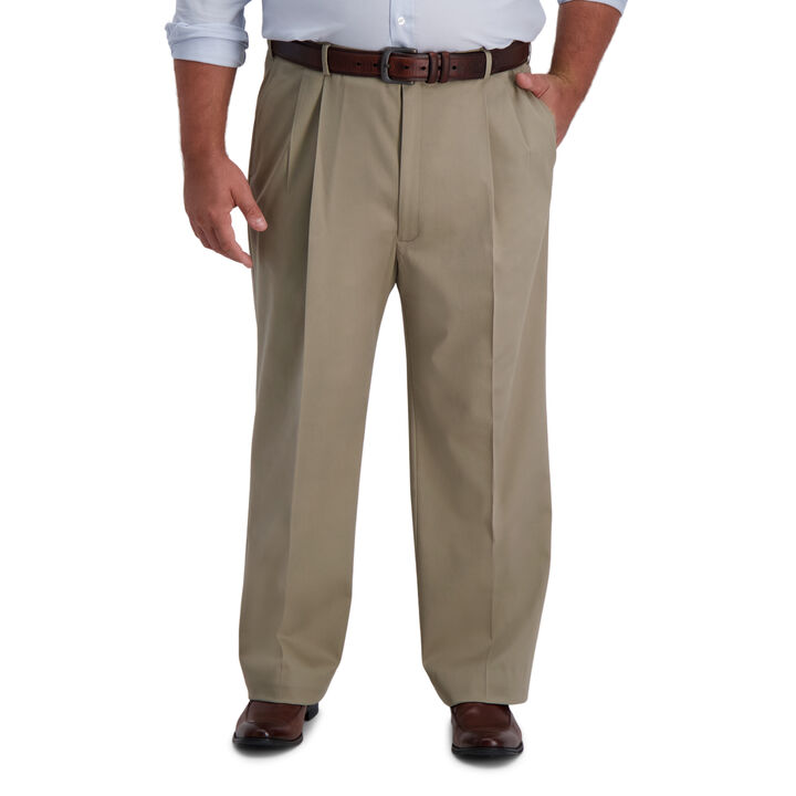 Big & Tall Iron Free Premium Khaki,  Medium Khaki