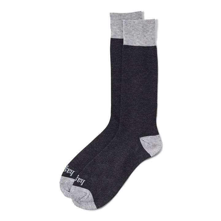 Solid with Contrast Sock, Black
