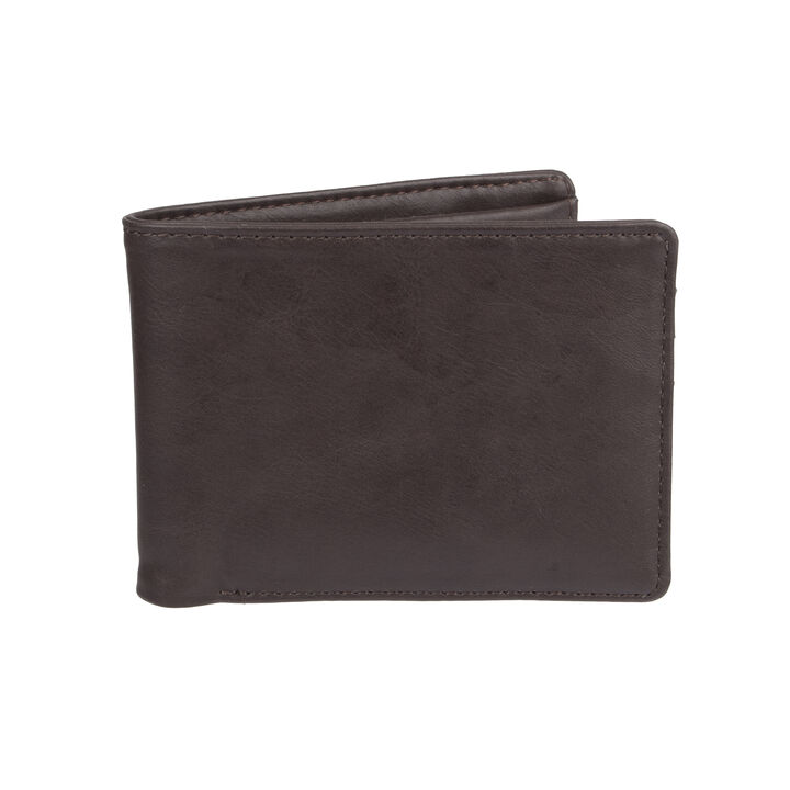 RFID Stretch Wallet, Brown open image in new window