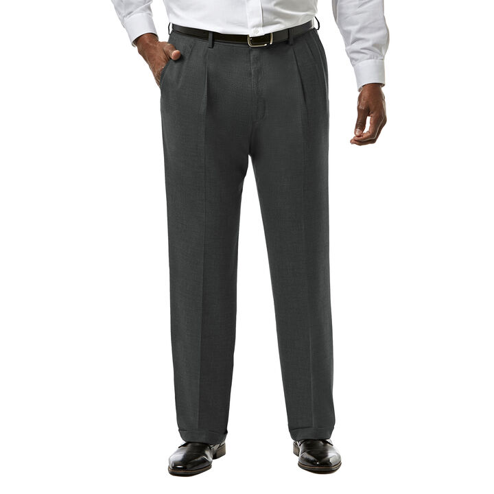 Big & Tall J.M. Haggar Premium Stretch Suit Pant - Pleated Front, Medium Grey open image in new window
