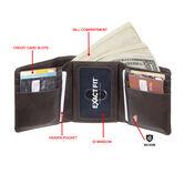 RFID Stretch Tri-fold Wallet, Brown 4