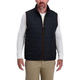 Channel Puff Vest , Black