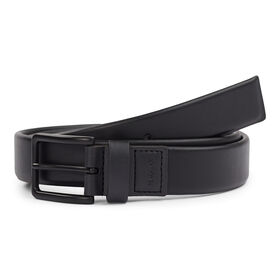 Soft Leather Stretch Belt, Black