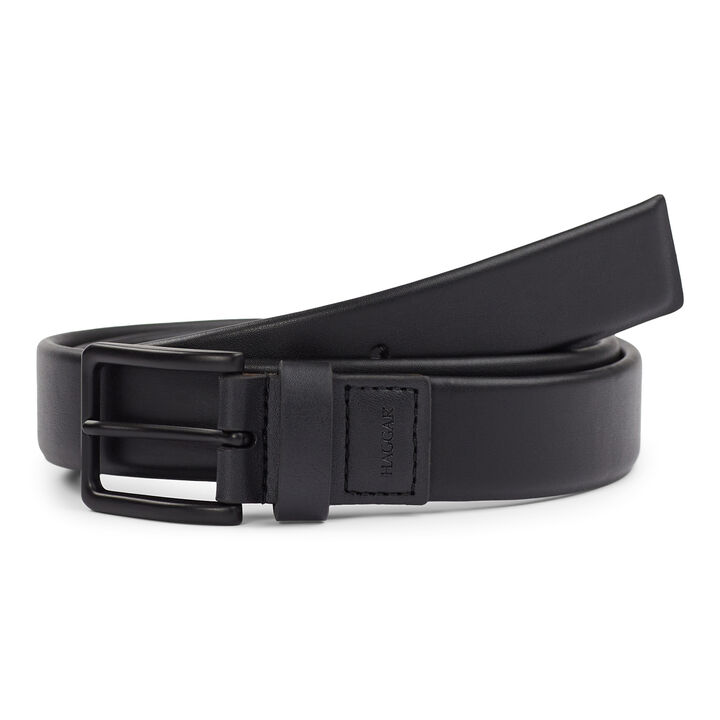 Soft Leather Stretch Belt, Black open image in new window