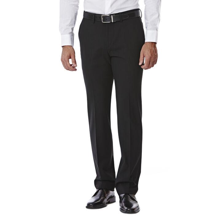 JM Haggar Slim 4 Way Stretch Suit Pant, Black open image in new window
