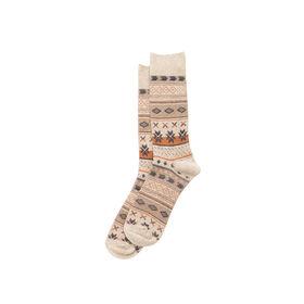 Earthy Fairisle Sock, Khaki