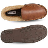 Smooth Venitian Slippers, Khaki view# 3