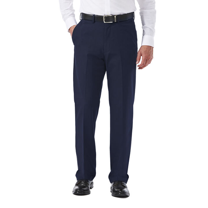 Premium Stretch Solid Dress Pant, Navy