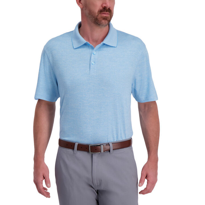 Cool 18® Pro Textured Golf Polo,  Saltwater Blue