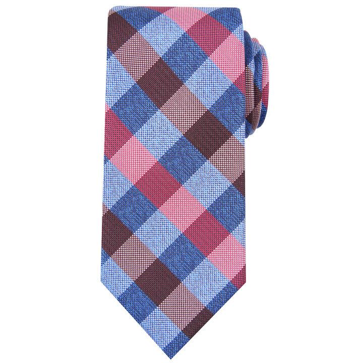 Horan Plaid Tie, Burgundy