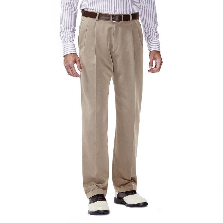 Smart Fiber Herringbone Dress Pant, Khaki