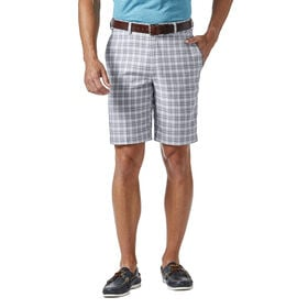 Cool 18® Pro Mini Plaid Short, Grey
