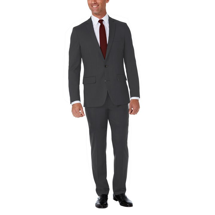 J.M. Haggar Premium Stretch Shadow Check Suit Jacket, Black / Charcoal, hi-res
