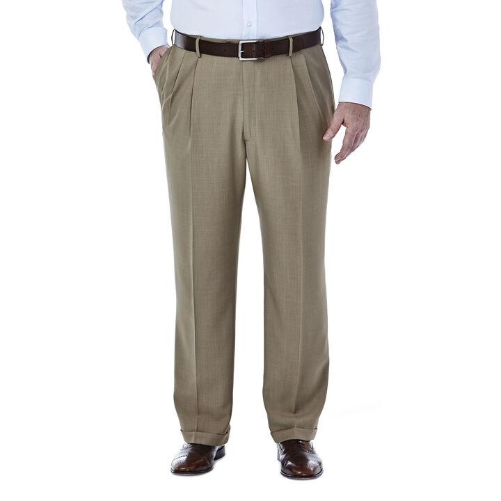 Big & Tall E-CLO™ Stria Dress Pant, Taupe