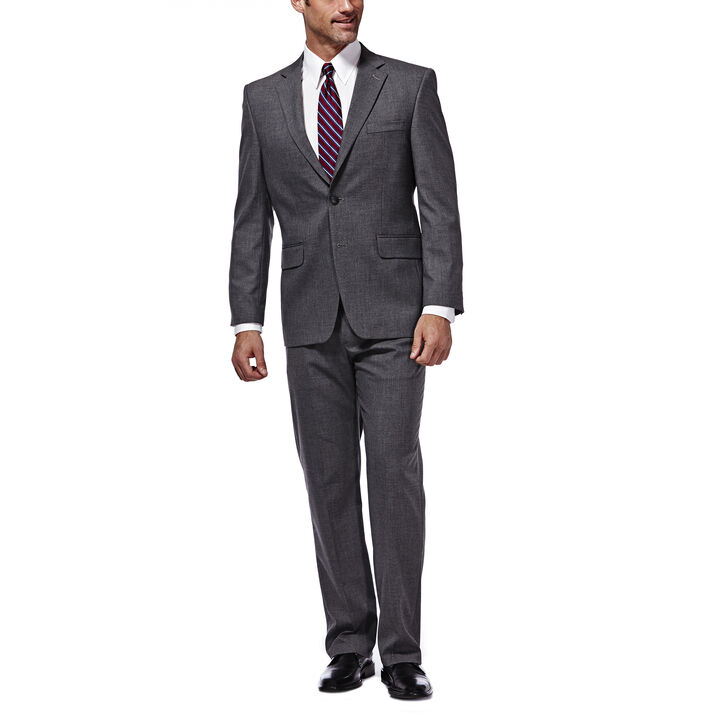 J.M. Haggar Premium Stretch Suit Jacket, Dark Heather Grey open image in new window