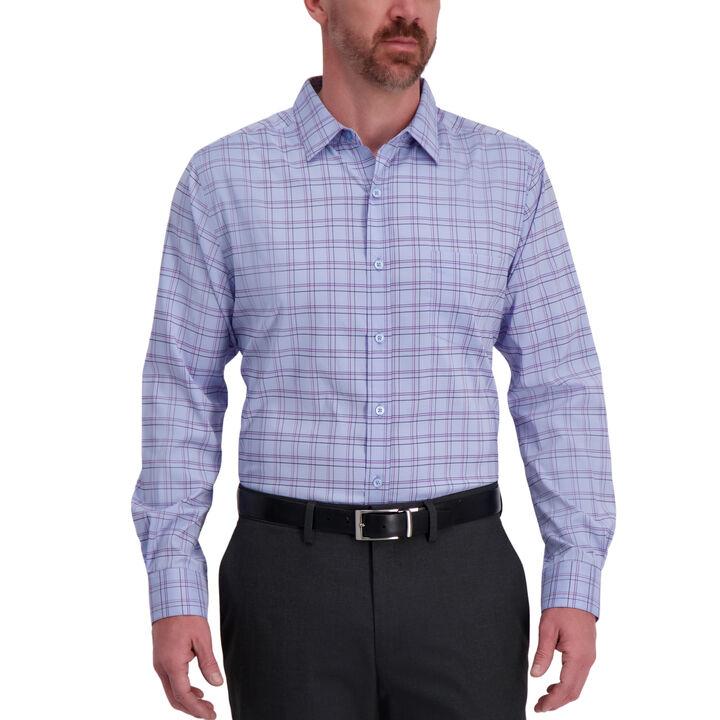 The Active Series™ Windowpane Plaid Casual Shirt,  Cloud Blue