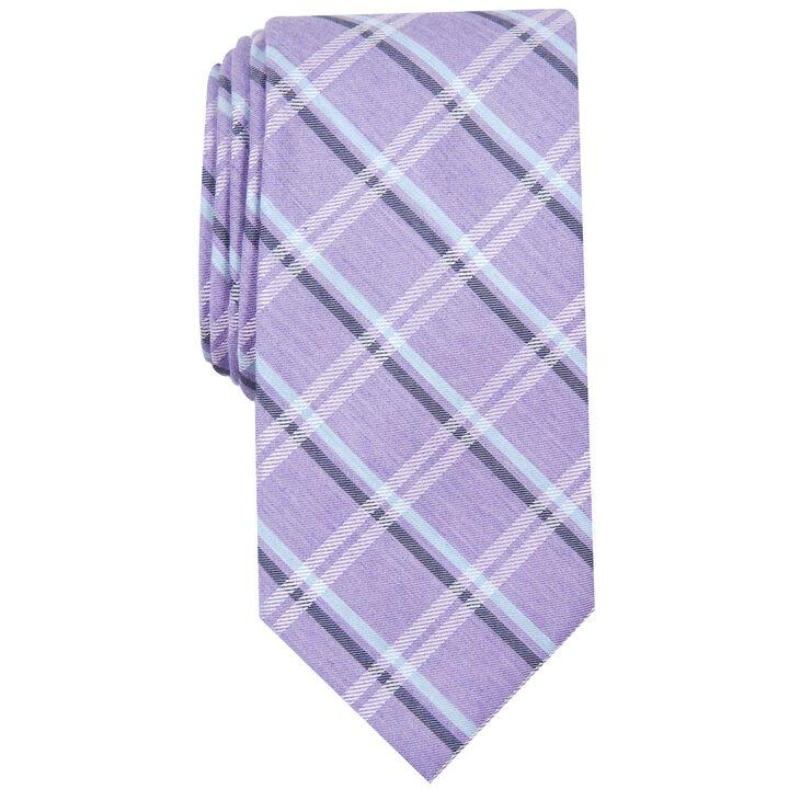 Plaid Tie, Purple