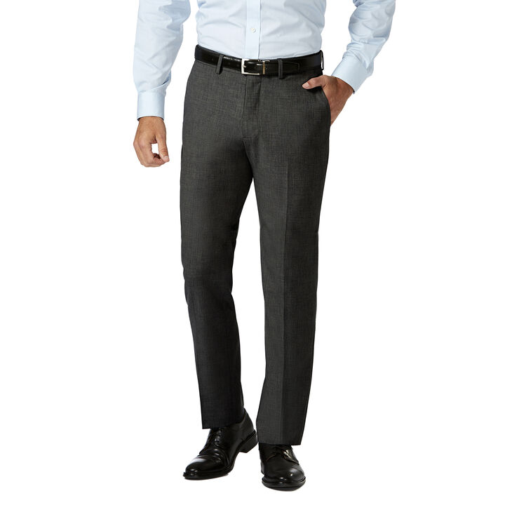 J.M. Haggar 4 Way Stretch Dress Pant, Charcoal Heather open image in new window