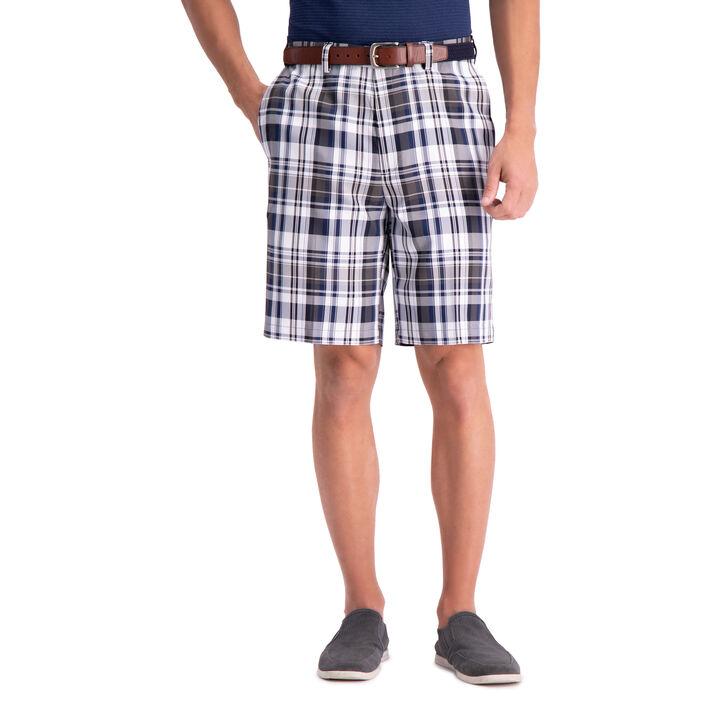 Cool 18® Pro Madras Plaid Short, Blue