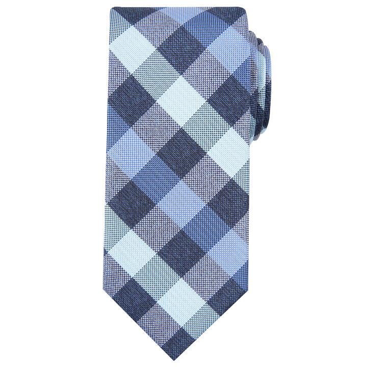Horan Plaid Tie, Black