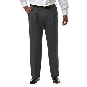 Big & Tall J.M. Haggar Premium Stretch Suit Pant - Pleated Front, Medium Grey