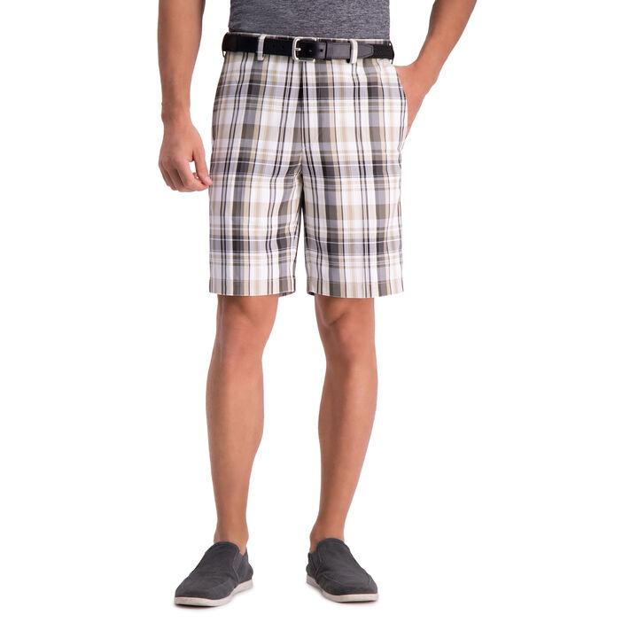 Cool 18® Pro Madras Plaid Short, Putty