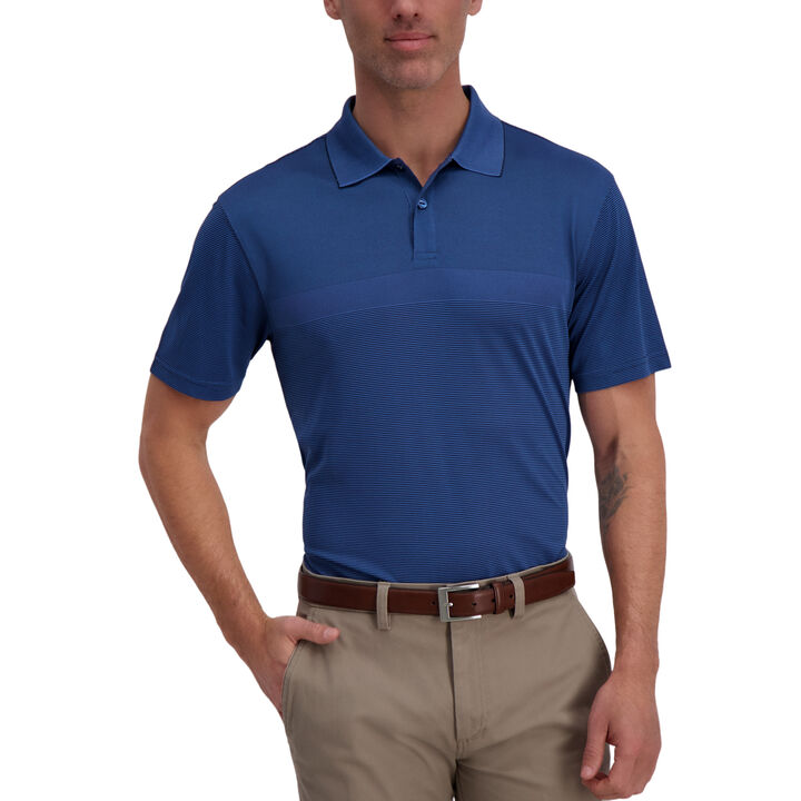 Cool 18® Pro Block Textured Golf Polo, Peacoat