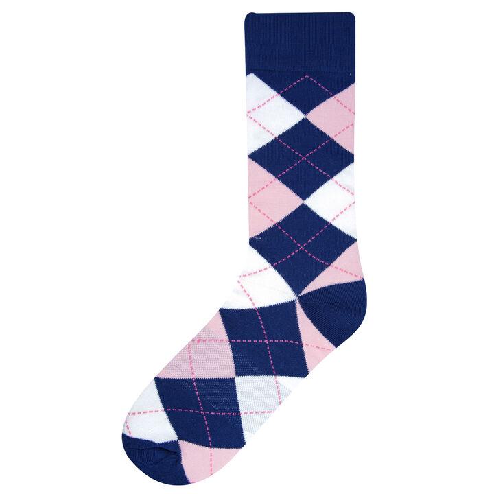Argyle Socks, Navy