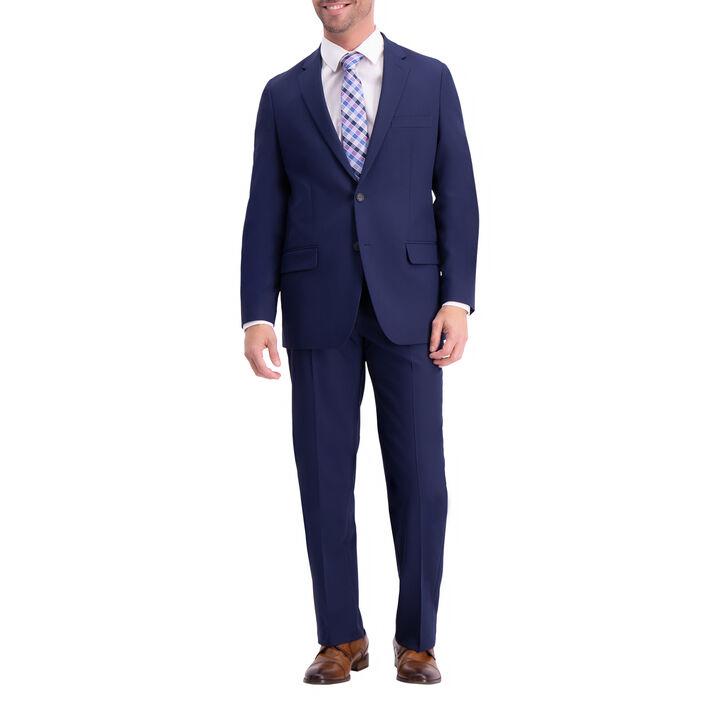 Active Series Herringbone Suit Jacket, Midnight, hi-res