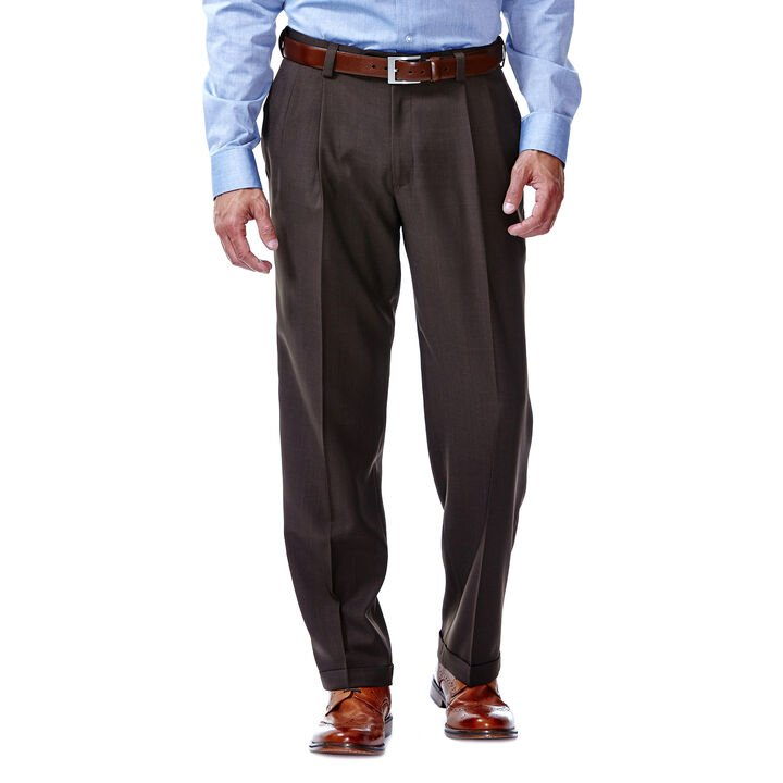 E-CLO™ Stria Dress Pant, Brown