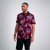 Floral Flamingo Shirt, Aubergine 1