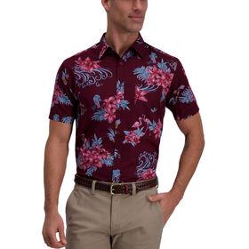 Floral Flamingo Shirt, Aubergine